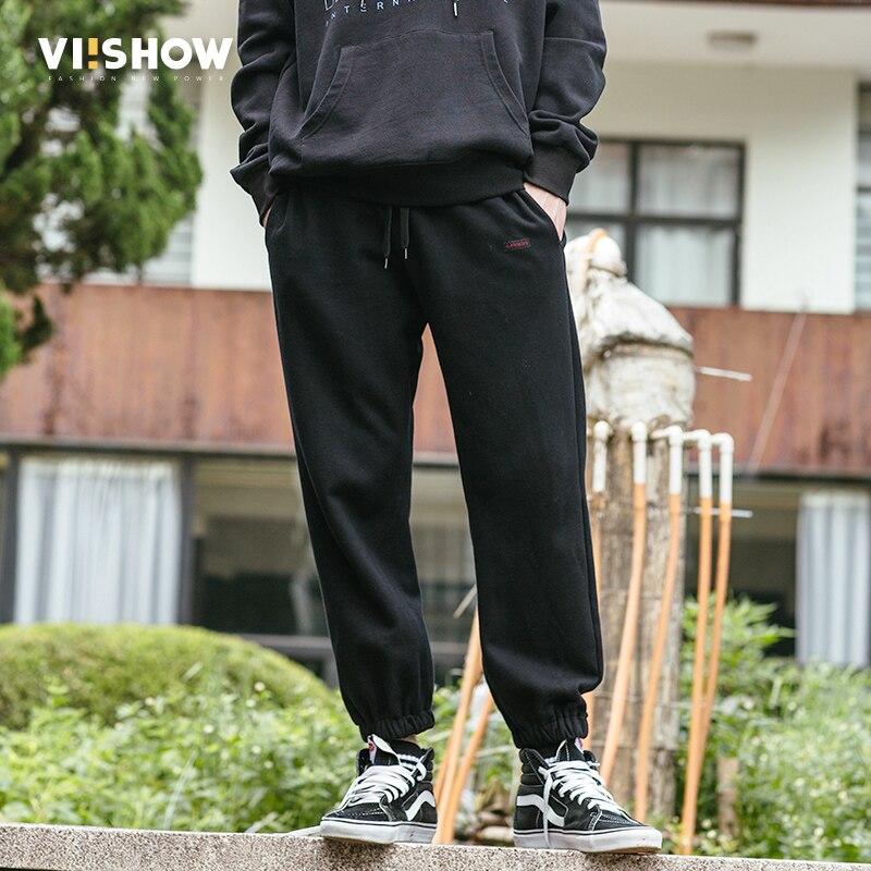 VIISHOW Men Sportswear Pants Casual Elastic cotton Mens Fitness Workout Long Letter Pant ...