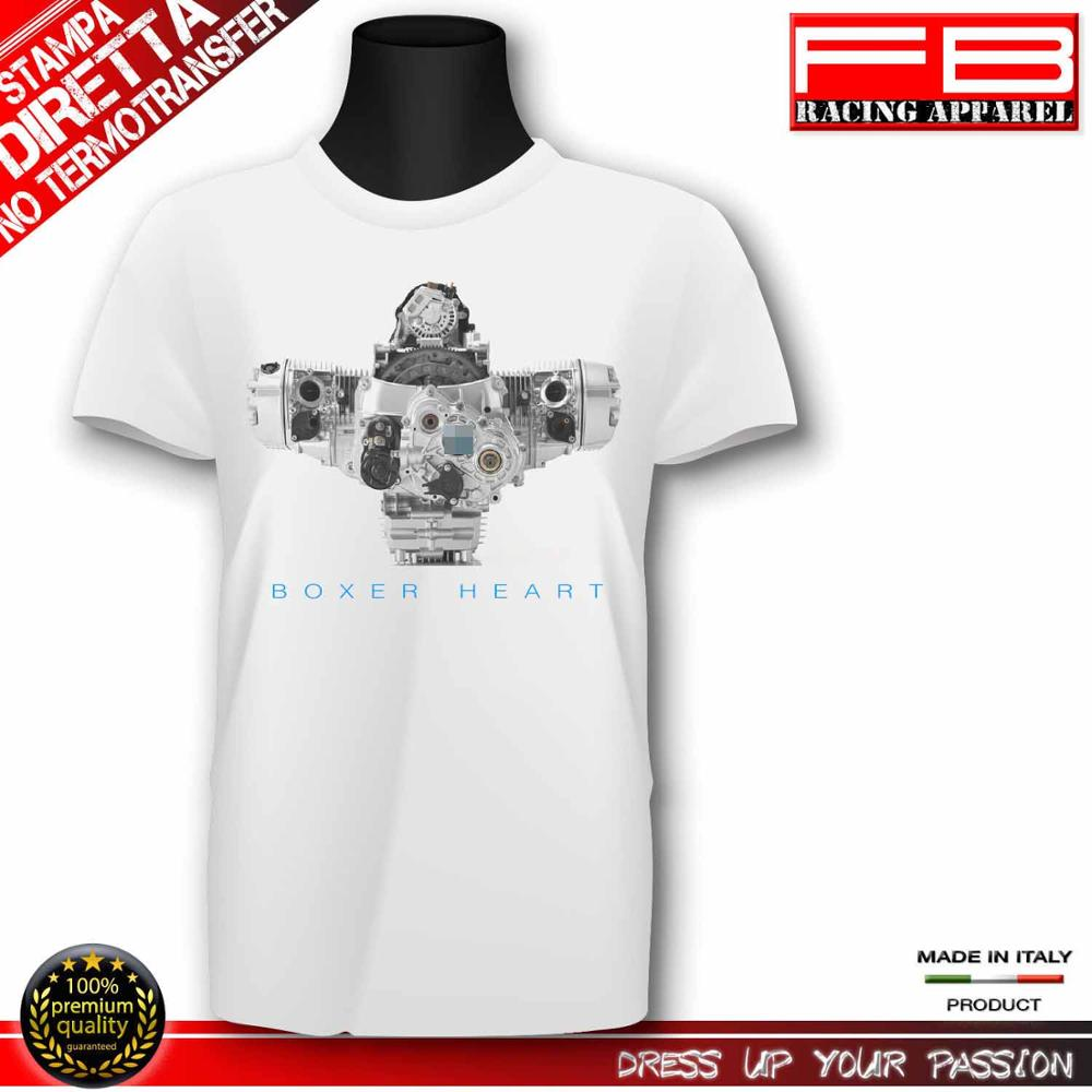 2019 New Summer Cool Tee Shirt Germany motorcycle Boxer Heart Engine R 1200 <font><b>Gs</b></font> Rt R 1150 <font><b>Gs</b></font> <font><b>Motorrad</b></font> Top Quality Cotton T-shirt image
