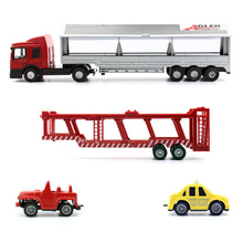 Feichao 1:64 Diecast Alloy Cars Model Toy Metal Vehicles Big Truck Toys Race Car Transporter Removable with 2 Pieces Small