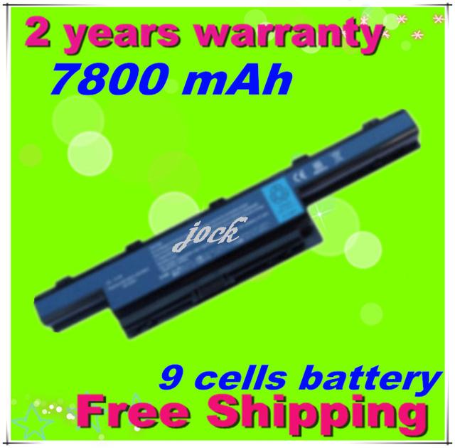 Jigu 9 celdas 7800 mah batería del ordenador portátil para acer aspire 4551g 4741 5251 5253 5551 5551g 5741 5741g 5742 5742g