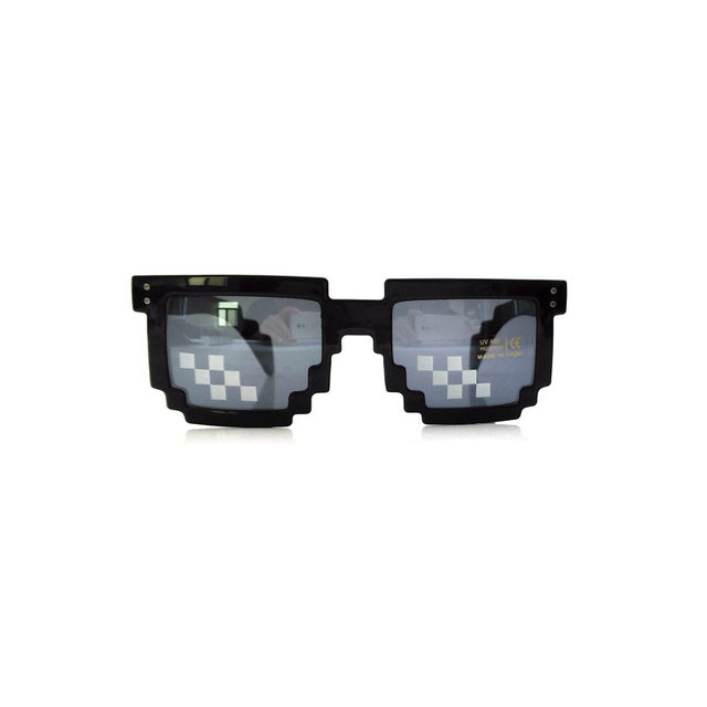 f320ec411ac42 Pixel Glasses Deal with It Sunglasses Sun Points for Women Men Oculos de  Sol Masculinos Femininos