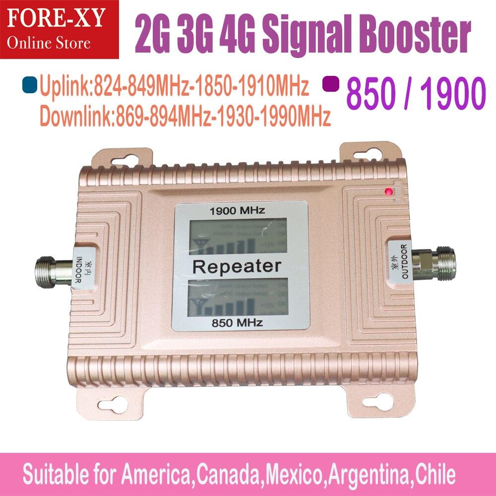 LCD affiche CDMA850 PCS1900 répéteur 4g amplificateur de signal 2G 3G 4G amplificateur de signal mobile amplificateur de signal cdma amplificateur de signal 3g