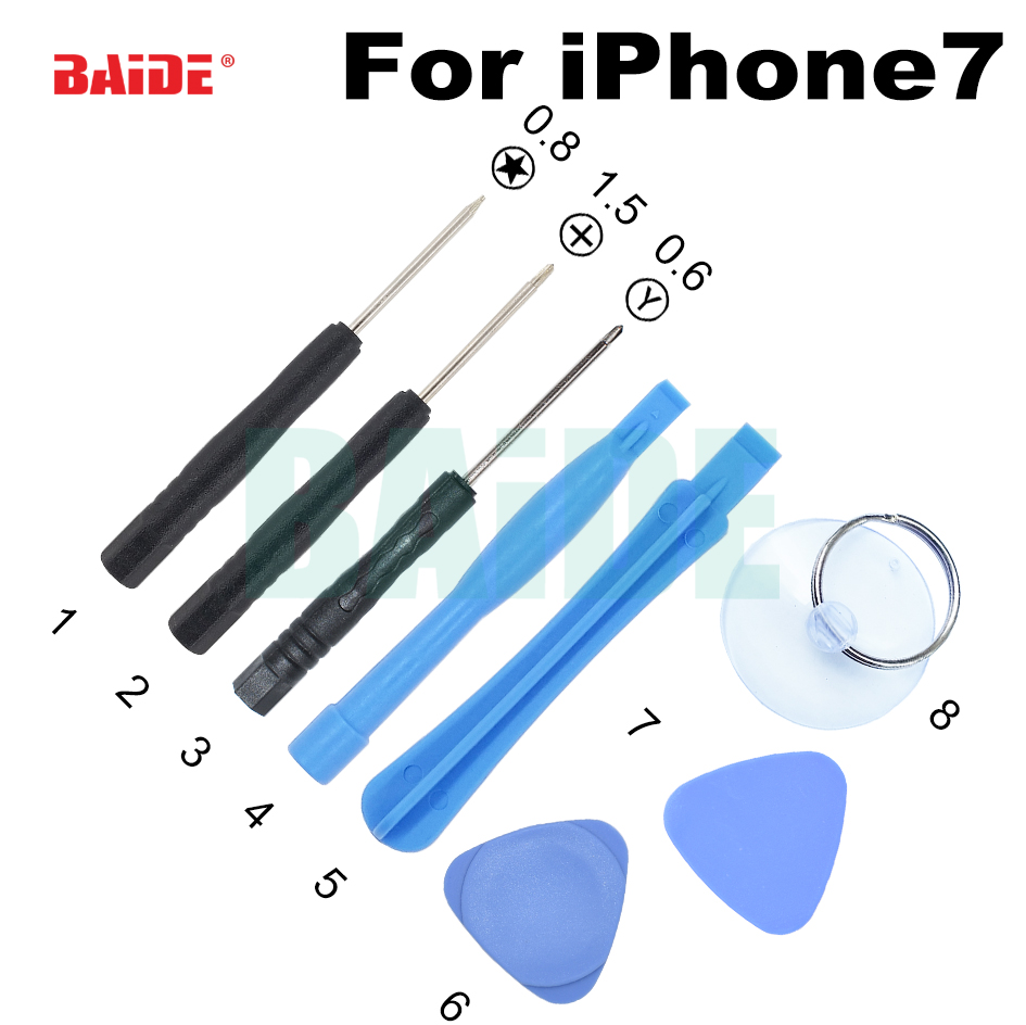 0 6 y 8 in 1 screwdriver set mobile phone opening tools for iphone7 6 5 4 dedicated repair tool. Black Bedroom Furniture Sets. Home Design Ideas