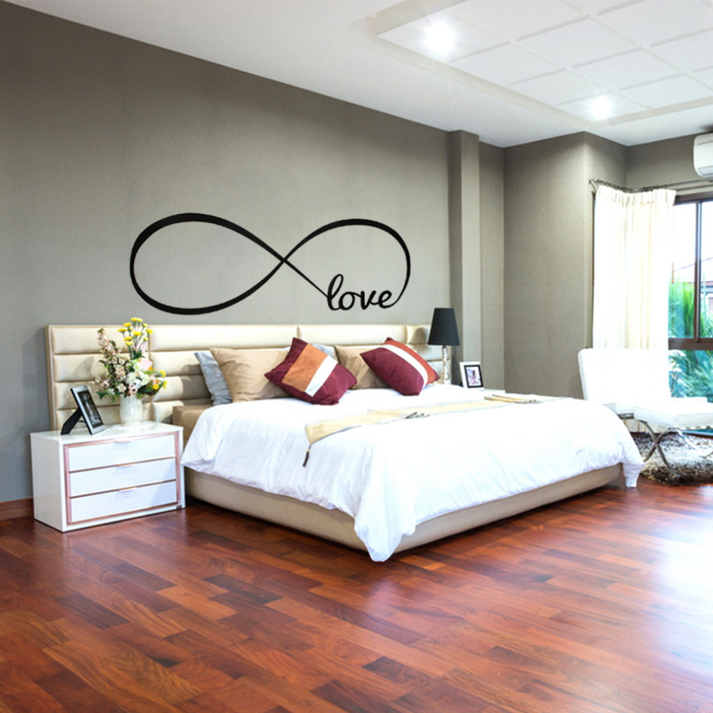 Personalized infinity symbol love bedroom wall decal words vinyl personalized infinity symbol love bedroom wall decal words vinyl wedding decorative wall stickers quote decal popular hot in wall stickers from home buycottarizona Image collections