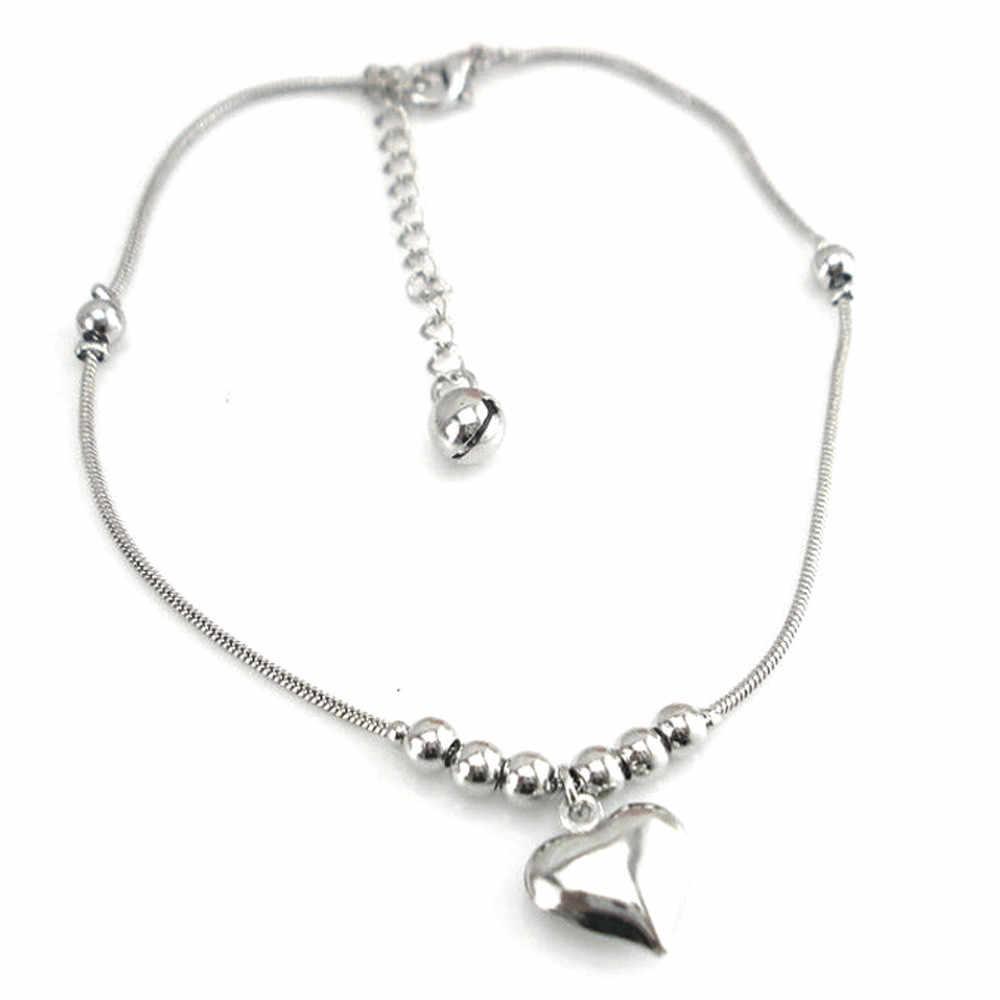 OTOKY アンクレット 2019 新シルバーロマンチックな小さなハート女性のためのチャームアンクレット足首ブレスレットアンクレット女性の足のジュエリー 19May27