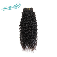ALI GRACE Hair Brazilian Kinky Curly Human Hair Weave 1 Bundle Natural Color 10-28 inch Remy Hair Bundles  Free Shipping
