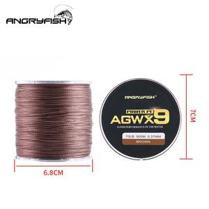 Image 3 - ANGRYFISH Diominate X9 PE Line 9 Strands Weaves Braided 500m/547yds Super Strong Fishing Line 15LB 100LB Dark Green