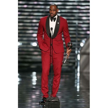 Brand Groomsmen dark red Mens Suits terno masculino Wedding Best groom Man men suit Tuxedos 2017 (Jacket+Pants+Tie+Hankerchief)
