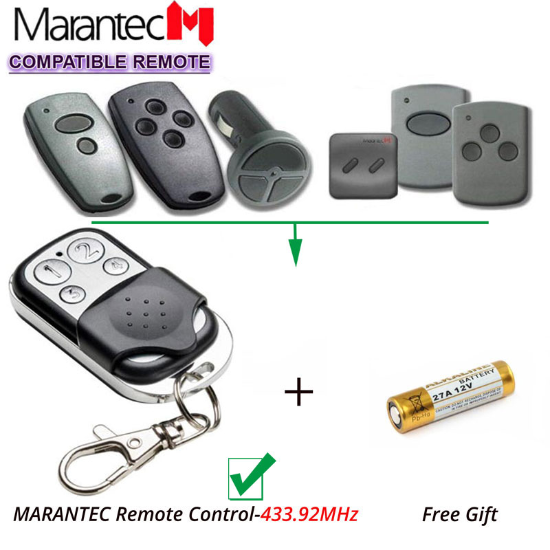 Marantec D302, D304 433Mhz Garage Door replacement Remote Control Marantec transmitter clone key fob v2 replacement remote control transmitter 433mhz rolling code top quality
