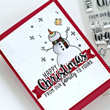 Let It Snow Snowman Transparent Clear Silicone Stamp DIY Scrapbooking/Photo Album Card Making Handcraft Decorative