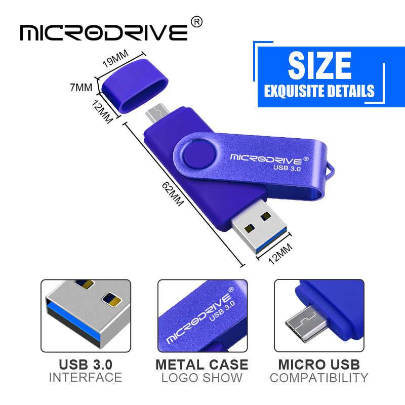 Hot Selling OTG 2 in 1 PenDrive 16GB USB Stick USB Flash Drive 32GB External Storage Pen Drive 64GB USB 3.0 Flash Memory Stick