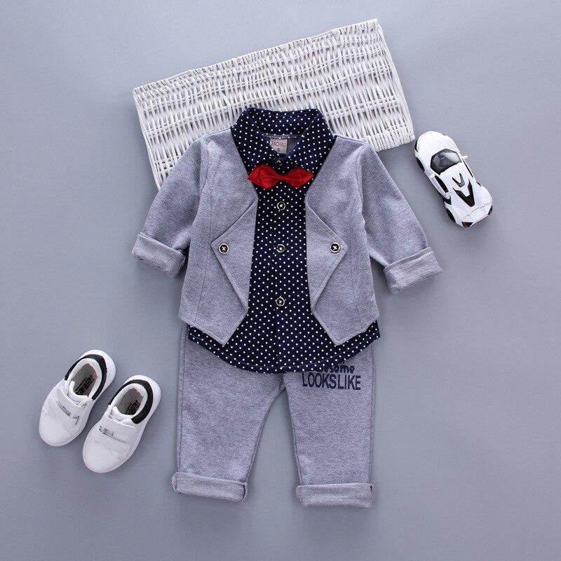 Hot Sales Infant Baby Boys Sätter Röd Plaid Långärmad Skjorta + - Babykläder - Foto 3
