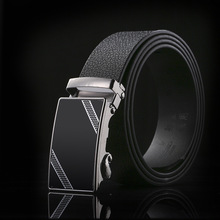 2019 New Sports and leisure Simple Atmosphere High-end business Fashion Automatic Buckle Mens Belt leather belt