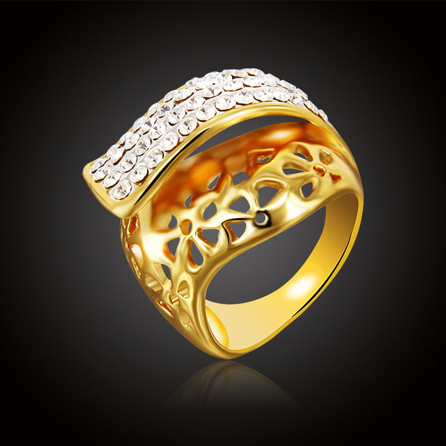 ERLUER Modo di colore Dell'oro Austria rhinestone di Cristallo classico Iperbole