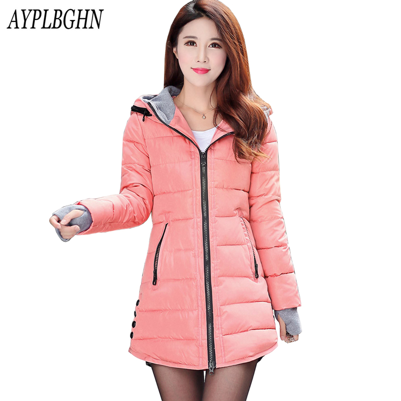 New Winter Jacket Women Parka Thick Winter Outerwear Plus Size Coat Long Slim Design Cotton-padded Jackets&Coats Plus size 6L52