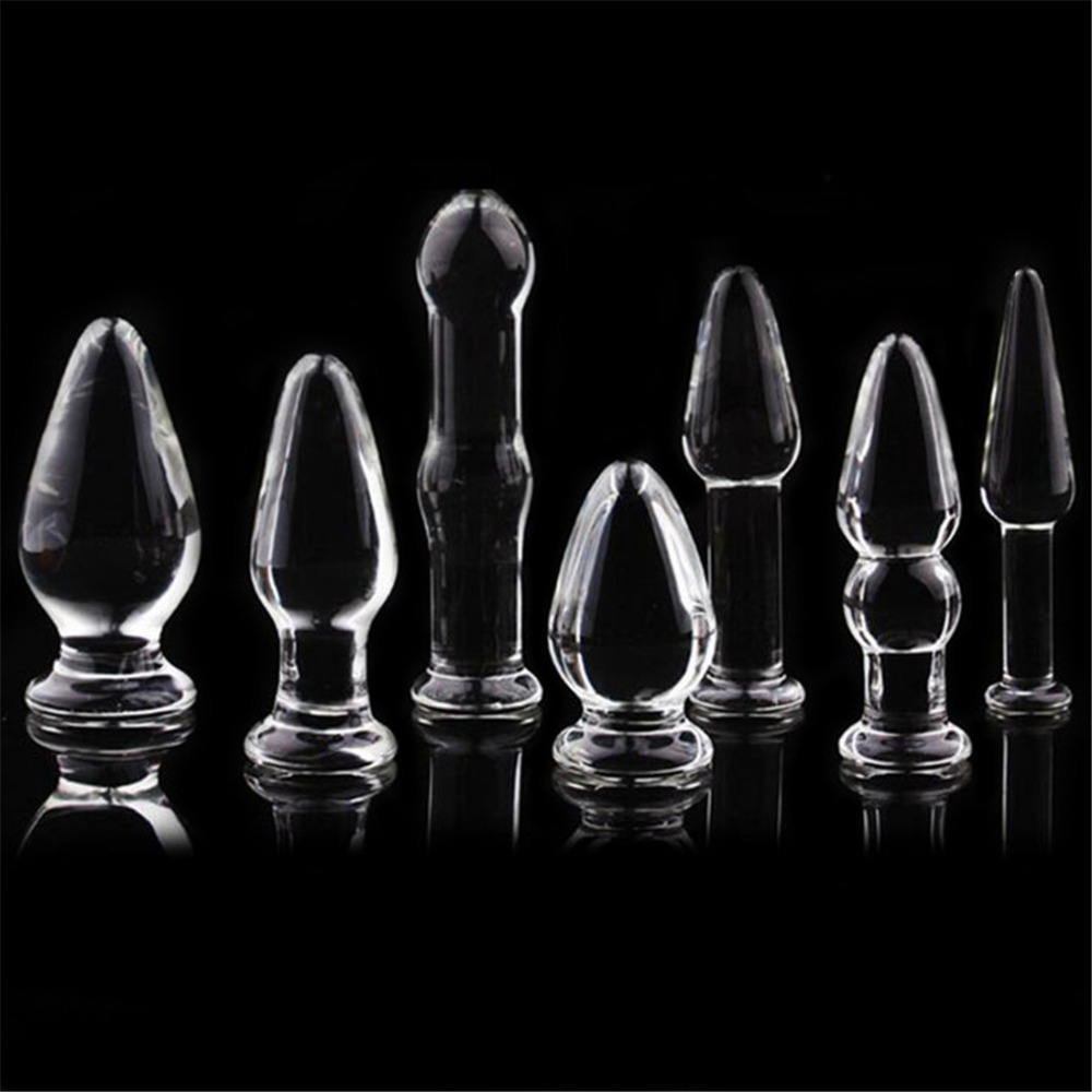 Smooth <font><b>Glass</b></font> <font><b>Anal</b></font> Butt <font><b>Plug</b></font> for Women <font><b>Sex</b></font> Toys <font><b>Anal</b></font> Beads for Men Prostate Massage <font><b>Crystal</b></font> Vagina Balls Gay <font><b>Dildo</b></font> Masturbation image