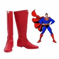 Superman Clark Kent Shoes Boots Cosplay Accessory Adult Unisex Men Women Shoes Fancy Red Superman Boots Size 34 43