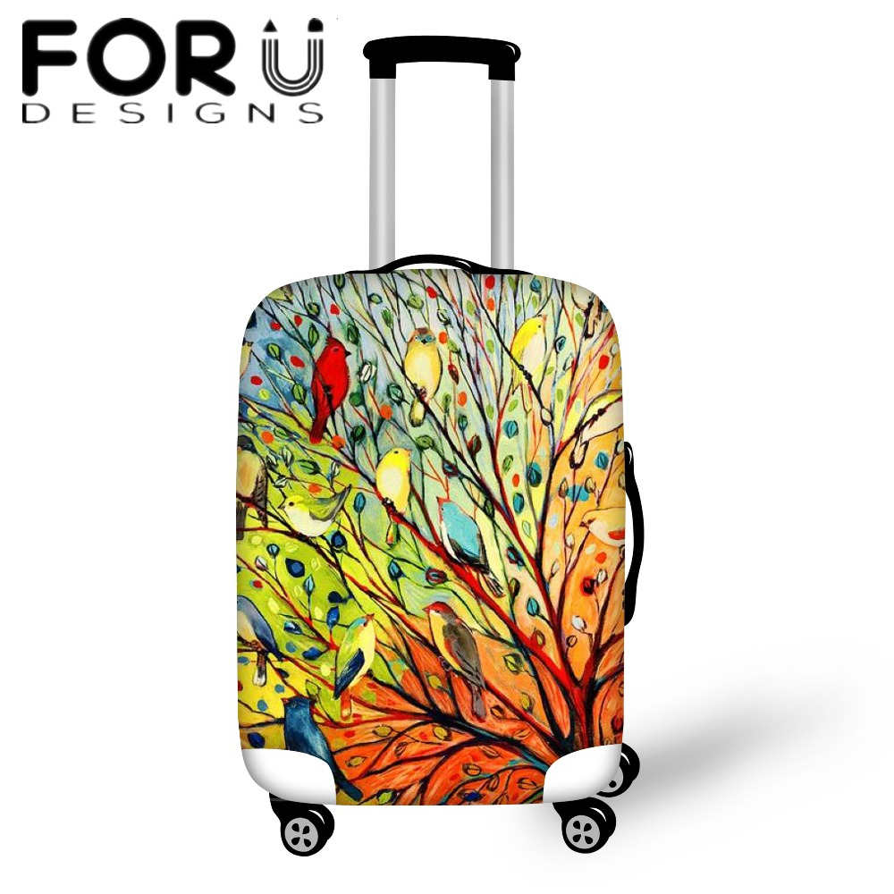 FORUDESIGNS 3D Painting Printing Travel Luggage Protective Cover Waterproof Anti-dust Rain Cover For 18-30 Inch Suitcase Case
