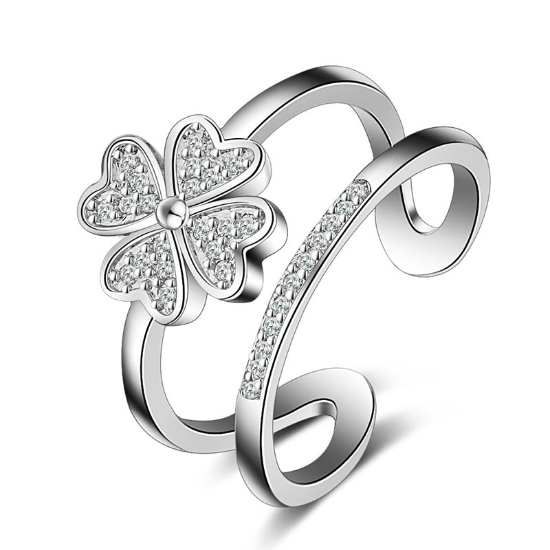 JEXXI Pretty Girls 925 Sterling Silver Heart Ring Adjust