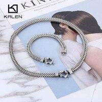 Guangzhou Mode-sieraden Set Rvs Armband En 400mm Collier Sieraden Set Trendy Stijlvolle Party mannen Sieraden