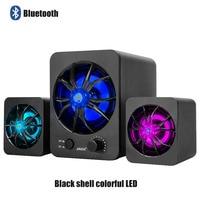 SADA D 217 Bluetooth Version Built in Colorful LED 2.1 3 Channel Subwoofer Speaker USB Power Computer MP3 Cellphone Speakers