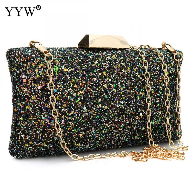 Yyw Whole Fashion Sequins Shoulder Clutch Bag Beautiful Party Handbags Evening For Women Bolsa Feminina