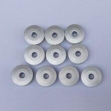 Большой размер 10 штук алюминиевые катушки для Brother, Juki и так далее промышленные швейные машины