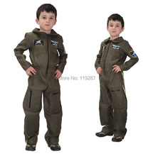 shanghai story new halloween kids boy army cosplay costumes air force performance costumes day gift clothes set