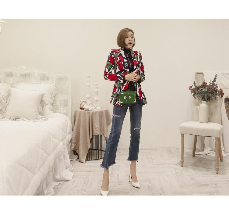 ZAWFL 2018 vacation women Summer trench coats Floral gray trench coat trench women coats office outwear OL Loose tops 4