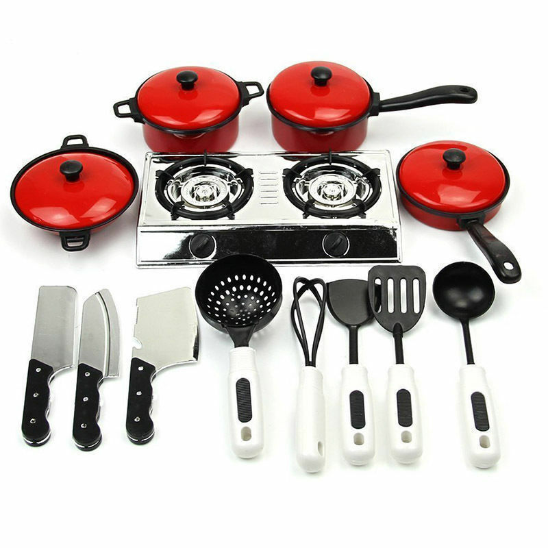 2019 New Hot Sale 13PCS Toddler Girls Baby Kids Play House Toy Kitchen Utensils Cooking Pots Pans Food Dishes Cookware Funny Toy