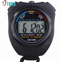 OTOKY Hot Unique  Digital Professional Hand held LCD Chronograph Sports Stopwatch Stop Watch Drop ship F49