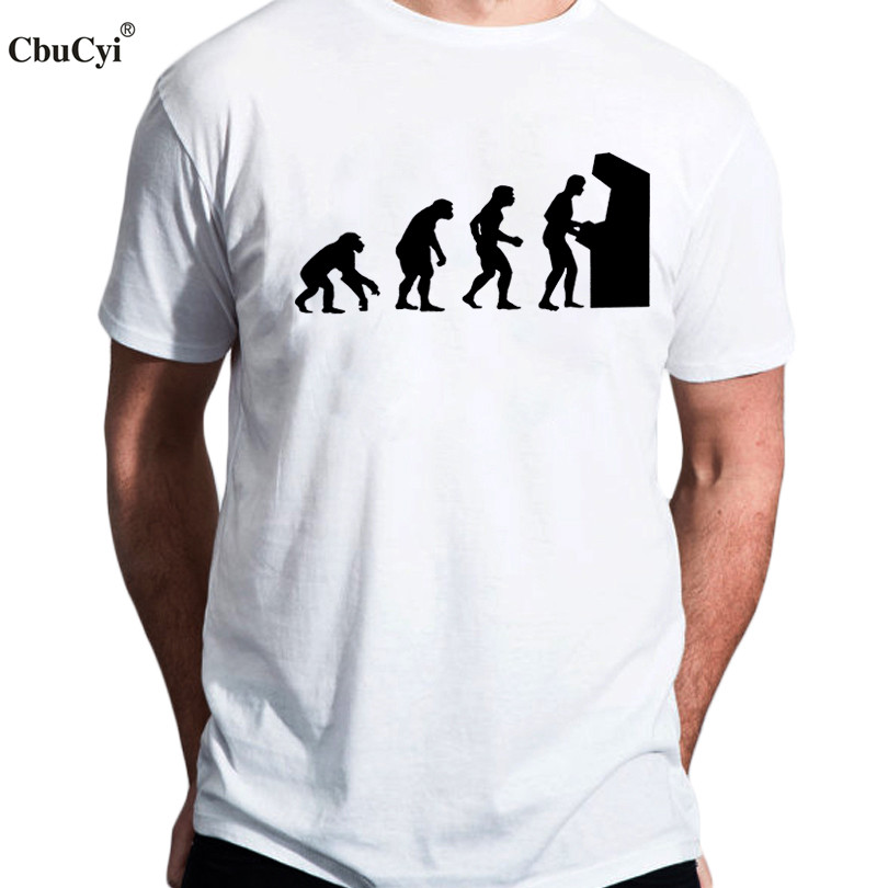 53149bfa Funny Arcade Gamer T Shirt vintage retro Video Game Tee Shirt Homme Computer  Geek Nerd Evolution
