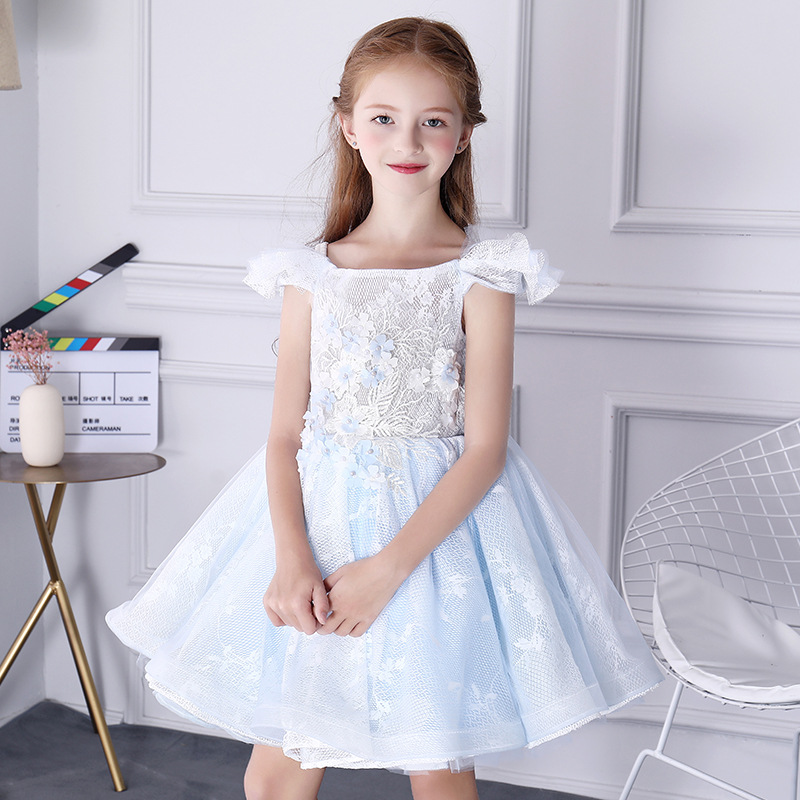 Formal Birthday Dress for Girls Princess Dress Ball Gown Off Shoulder Flower Girl Dresses Appliques Kids Pageant Dress Wedding top quality new year girls dresses pageant princess flower dress for girl kids clothing formal wedding party gown page 8