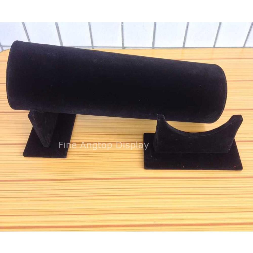 30cm Length velvet black headband display rack hair hoop bracelet stand holder support