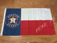 3x5ft American flag Houston Astros Baseball MLB Flag Banner 100% polyester Free Shipping