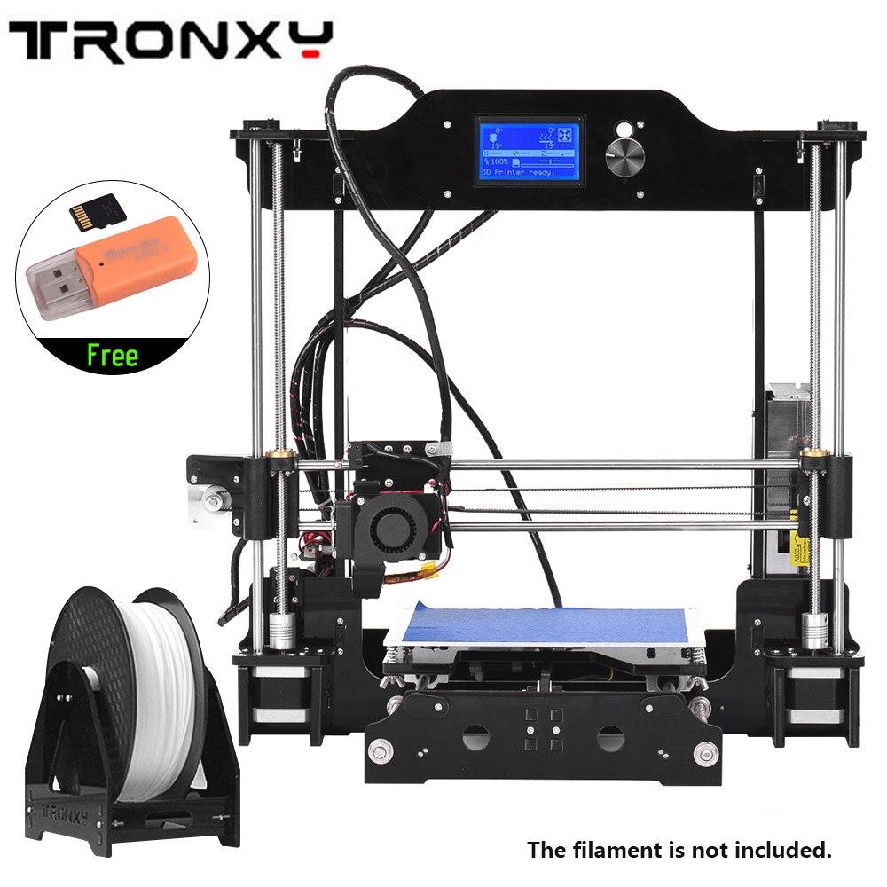 Haute Précision Bureau 3D Imprimante Kits DIY Assemblée Auto LCD12864 Écran Impresora Pas Cher 3D Imprimantes 3 D Imprimante