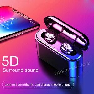 Image 2 - x8 Tws True Wireless Bluetooth Earphones Headset Waterproof ipx8 5.0 Mini Sports Earbuds Blutooth Earphone with Mic Charging Box