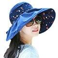 Verano de Las Mujeres Sombreros para el Sol Sombrero de Ala Ancha Playa Chapéu Feminino Fold Cap Sombreros de Las Señoras ZMF8745251