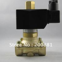 1 1/4 brass Solenoid Valve DC12V AC220V DC24V high pressure normally open 2W350 32K for Water oil steam