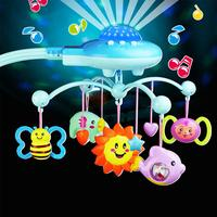 LeadingStar Newborn Infant Toddler Baby Toys Boys Girls Bed Bell Musical Rotating Bells with Hanging Rattle Toys