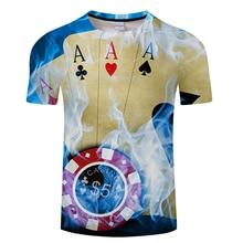 Marca Poker T camisa jugando a Las cartas ropa juego camisas Las Vegas  camiseta Tops ropa hombres 3d camiseta tamaño asiático s-. fb08b5651cc