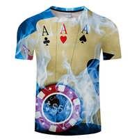 Camiseta de póker de marca, camisetas de cartas de juego, camisetas de apuestas, camisetas de Las Vegas, ropa, Tops, camiseta divertida 3d para hombres, s-6xl de tamaño asiático