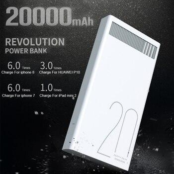 Remax 2.4A Batteria Ai Polimeri di 20000 mah Carica Rapida Accumulatori e caricabatterie di riserva Dual USB di Ricarica per Xiaomi Samsung Tablet 20000 mah Poverbank