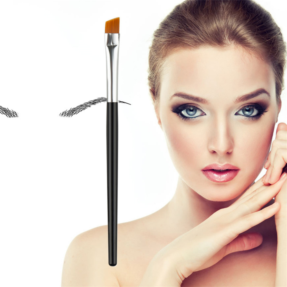 1pcs Eyebrow Brush Silverblack Eye Brow Brush Nylon Hair Pro Eyeshadow Eye Brow Lip Cosmetic Brushing Brushes Tools