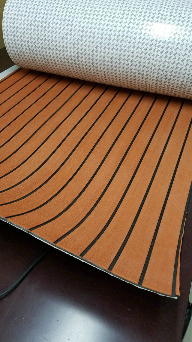 Marine Boat Eva Teak Deck Sheet Mls Light Brown With Black