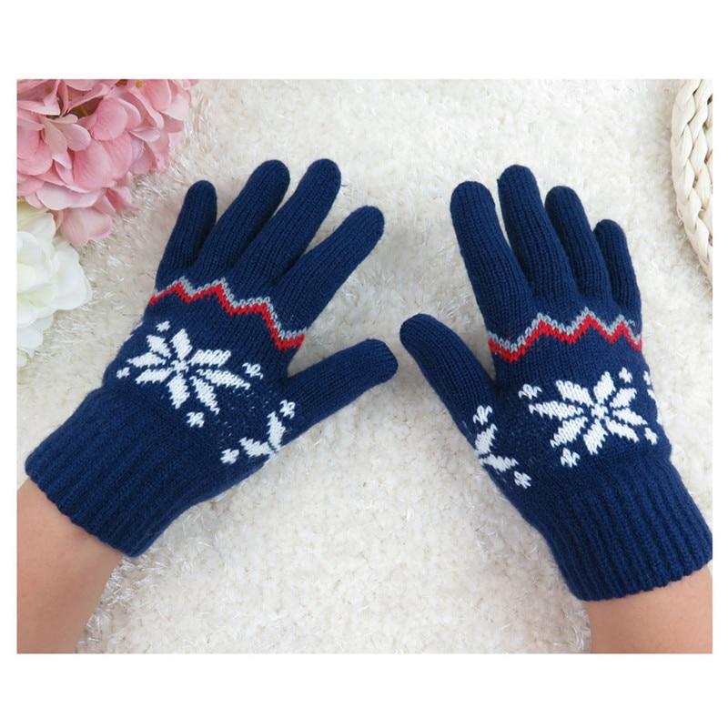 #3533 Unisex Children Knitted Winter Gloves Cashmere Soft Warm Mitten