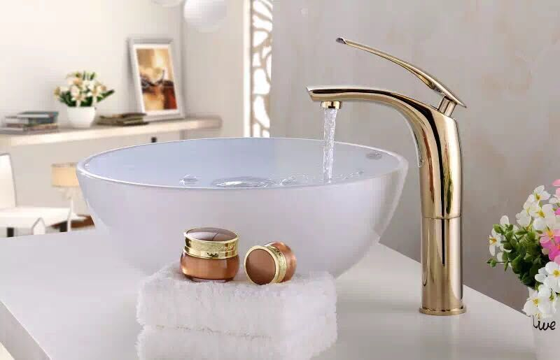 new arrival high quality brass material different colors finished hot and cold single lever high basin faucet sink mixer free shipping new design high quality brass material single lever basin faucet