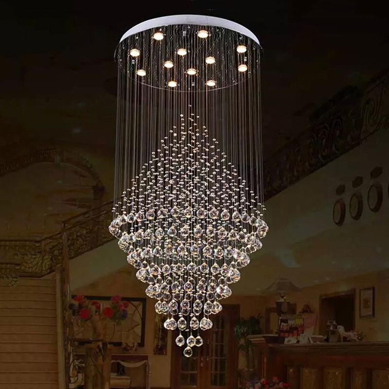 VALLKIN LED Crystal Pendant Lamps Hanging Chandeliers Lamp Fixtures For Villa Hotel  Office Mall with Ac 110 to 240v new stype magic bean chandeliers pendant lamps ac 110 240v led dna bubble modern glass lamp for living room mall hotel decor
