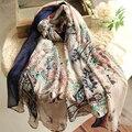 2016 Bufanda de Seda de Calidad Superior de Las Mujeres de Moda del Satén de Seda Imitado Bufandas Del Mantón Hijab Bandana Foulard Bufandas Pashmina
