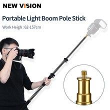 """25,5 """" 62""""/62 157 cm Erweiterung Unterstützt Stange fotografie Flash Speedlite Stick Stange Foto Studio mikrofon Boom Pole Handheld Grip"""